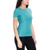 asics SS Top - Camiseta Running Mujer - Azul petróleo